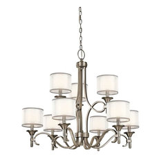 Most popular antique pewter chandeliers houzz for 2018 houzz kichler kichler lighting 42382ap lacey transitional chandelier in antique pewter chandeliers aloadofball Images