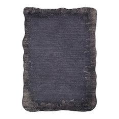 Mezcla Texture Black, Light Gray Area Rug, 8'x10'