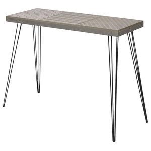 VidaXL Console Table, Grey, 90x30x72 cm