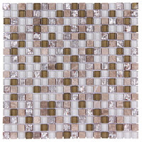 "12""x12"" Stone and Co Mosaic Glass and Stone Mix Glass Mosaic Tile Mag"