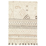 Jaipur - Jaipur Living Zamunda Hand-Knotted Geometric Cream/Brown Area Rug, Standstorm, 2 - Modern Moroccan style defines the chic look of this artistically hand-knotted area rug. This soft and luxurious layer boasts hand-spun wool in neutral shades of cream, tan, and brown, while the geometric design combines an asymmetrical lattice pattern with eclectic triangle accents.
