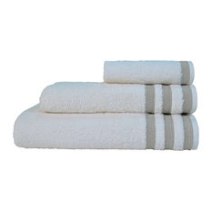 CASUAL AVENUE - Ivory and Warm Grey Newport Washcloth, 30x50 cm - Bath Towels