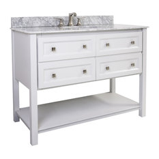 "Adler White 48"" Single Vanity With Preassembled Top and Bowl"