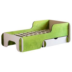 PIKU Child's Bed, 70x140 cm, Green