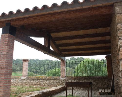 trendy best email porche rstico vigas imitacin madera guardada veces preguntas with porches rusticos de madera - Porches Rusticos