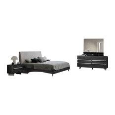 New Star 5-Piece Bedroom Set, Gray, King