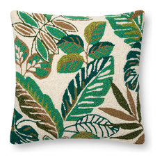 Loloi Green and Multi Color 22  x22   Accent Pillow, Poly Fill