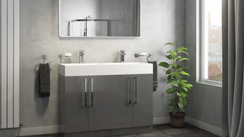 Alpina 1200mm Double Vanity Unit & Basin - Gloss Grey