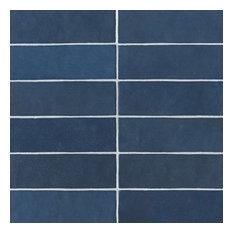 "Cloe 2.5""x8"" Artisan Ceramic Subway Tile, Blue"