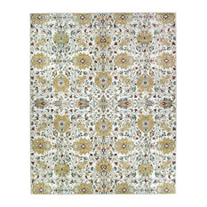 Traditional Floral Cream Area Rug (8'x10')