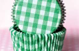 Grass Green Country Plaid Baking Cups