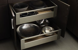 Omega Cabinetry: Metal Drawers and Roll Trays