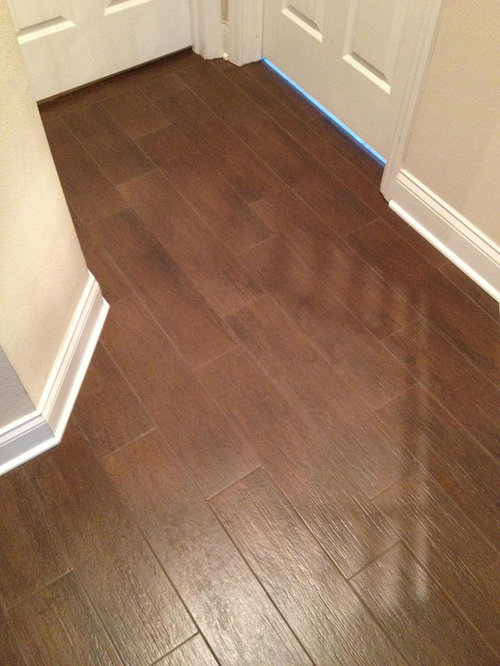 Choosing porcelain floor faux wood tile houzz for Fake tile floor
