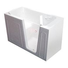 MediTub Walk-In 32 x 60 Right Drain White Soaking Walk-In Bathtub