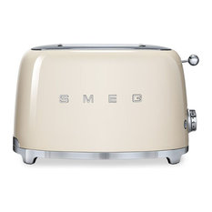 Smeg 50's Retro Style Two Slice Toaster, Cream