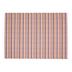 "Heddle Basketweave Floor Mat, Pansy, 26""x72"""