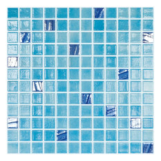 """12.5""""x12.5"""" Turquoise 501, 734 Glass Tile"""