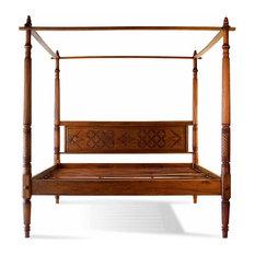 Dark Wood Canopy Bed dark wood canopy bed | houzz