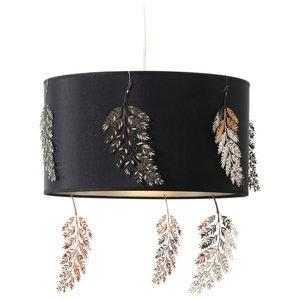 Kahala Fern Black Pendant Lamp, Small