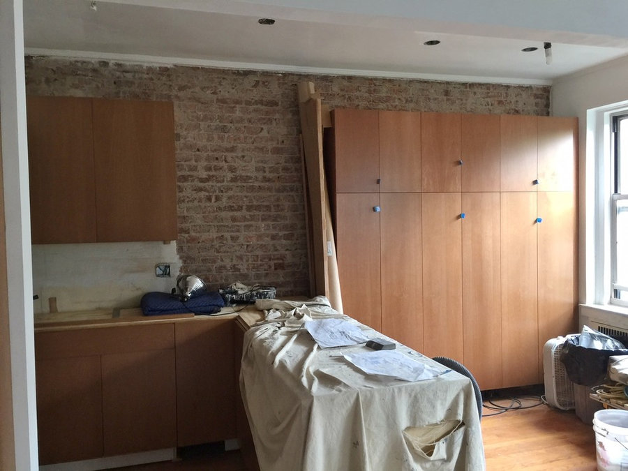 Soho Chic Stained Beech Kitchen in Progress