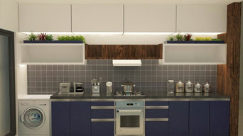 Beautiful 3BHK in midnight blue black and white combination