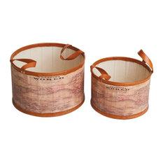Mondo Tubs, Set of 2, Brown