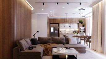 Кухня-гостиная 74 кв.м. 2020 г. Эскизы.