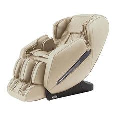 Titan TP-Carina L-Track Massage Chair with Space Saving, Zero Gravity, Beige by Titan Chair LLC