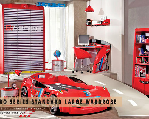 Race Car Garage Themed Wardrobe   Kids Bedroom Furniture Sets. Race Car Garage Themed Wardrobe