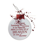 Ornament Angel Red Because Someone We Love is in Heaven