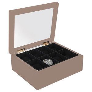 EMDE Wooden Watch Case, Taupe