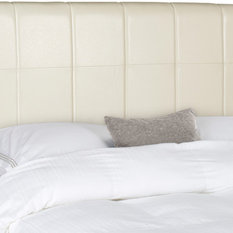 Safavieh Quincy Headboard White Leather King Headboards