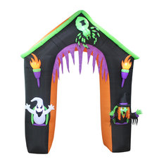 Halloween Inflatable Haunted House With Ghost, Witch and Spider, 9Ft Tall