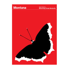 Montana Mourning Cloak Butterfly Print