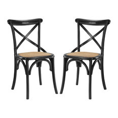 Gear Dining Side Chair Set of 2, Black