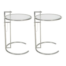 MLF   Classic End Table, Adjustable Height Table, Set Of 2   Side Tables