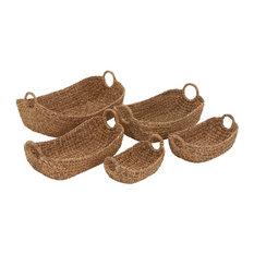 Edinburgh Seagrass Baskets, Set of 5