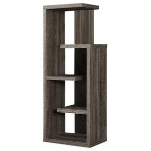 Atlin Designs 4 Shelf Accent Bookcase Dark Taupe