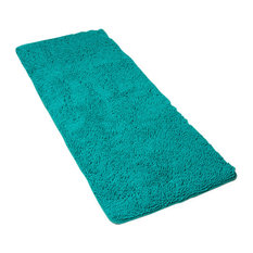 Lavish Home Memory Foam Shag Bath Mat 2-feet by 5-feet, Seafoam