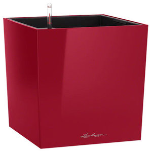 Cube Self Watering Planter, 40x40x40 CM, Red