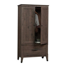Pemberly Row - Pemberly Row Armoire, Coffee Oak - Armoires and Wardrobes