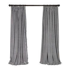 exclusive fabrics u0026 furnishings llc signature silver gray velvet blackout curtain single panel