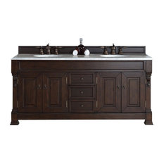 "72"" Double Vanity, Burnished Mahogany, No Counter Top"