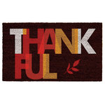 Home & More - Thankful Doormat - Made of natural coir, a dense fiber that is naturally mold and mildew resistant. Coir is a renewable resource that is durable and coarse, excellent for scraping shoes clean. Vinyl backed for increased durability and to help prevent movement, coir doormats are weather tolerant absorb moisture and retain their shape. For best results keep in a sheltered area such as a covered porch, keeping extreme moisture and sunlight to a minimum. Vacuum, sweep or lightly hose clean.
