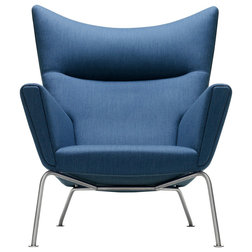 Good Midcentury Armchairs And Accent Chairs Wegner Wing Chair Blue