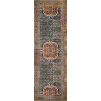 """Cobalt Blue Spice Printed Polyester Layla Area Rug by Loloi II, 2'-6""""x7'-6"""""""