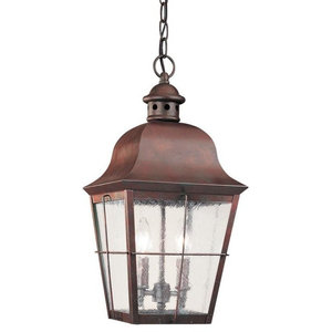 Sea Gull Chatham 2 Light Outdoor Pendant, Silver
