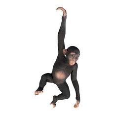 Hanging Jungle Monkey Statue