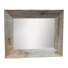 mybarnwoodframes rustic mirror with beveled barn wood frame 30x36 wall mirrors