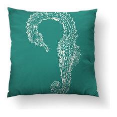 "Seahorse Hug Throw Pillow, 20""x20"", Pillow Cover Only"